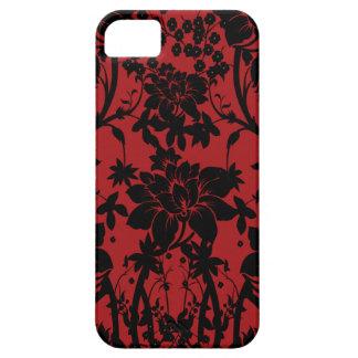 Diseño floral rojo y negro del granero del vintage iPhone 5 Case-Mate cárcasas