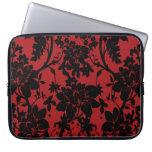 Diseño floral rojo y negro del granero del vintage mangas portátiles