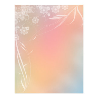 Diseño floral romántico del papel del libro de membretes personalizados