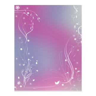 Diseño floral romántico del papel del libro de plantilla de membrete