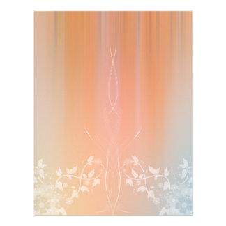 Diseño floral romántico del papel del libro de rec membrete a diseño