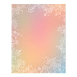 Diseño floral romántico del papel del libro de rec membretes personalizados