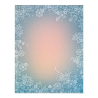 Diseño floral romántico del papel del libro de rec plantilla de membrete