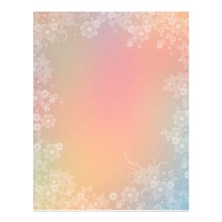 Diseño floral romántico del papel del libro de rec plantillas de membrete