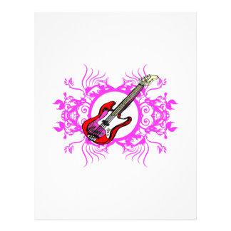 """Diseño floral rosado bajo rojo del negro del círcu folleto 8.5"""" x 11"""""""