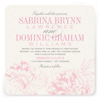 Diseño floral rosado del Peony de la invitación el