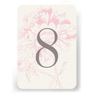 Diseño floral rosado del Peony del número el de Anuncio