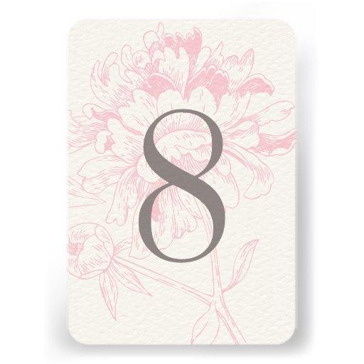 Diseño floral rosado del Peony del número el | de  Anuncio