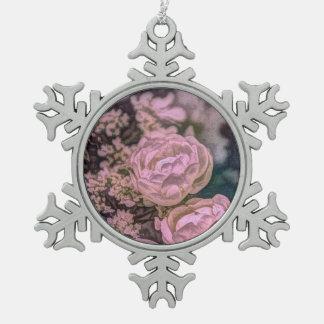 Diseño floral rosado del vintage y púrpura elegant adornos