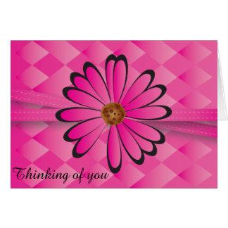 Diseño floral rosado elegante tarjeta pequeña