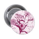 Diseño floral rosado hermoso pins