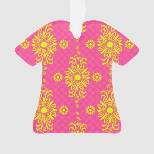 Diseño floral rosado y amarillo brillante moderno