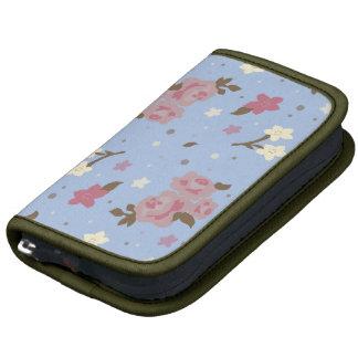 Diseño floral rosado y azul elegante lamentable cl organizador