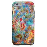Diseño floral rústico abstracto colorido funda de iPhone 6 tough