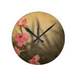 diseño floral rústico del vintage reloj de pared