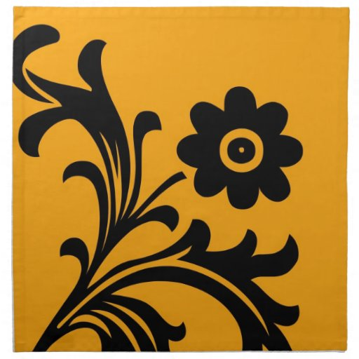 Diseño floral servilleta