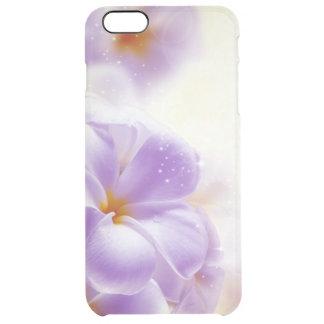 Diseño floral soñador púrpura y blanco en colores funda clearly™ deflector para iPhone 6 plus de unc