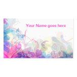Diseño floral suave y bonito plantillas de tarjeta de negocio