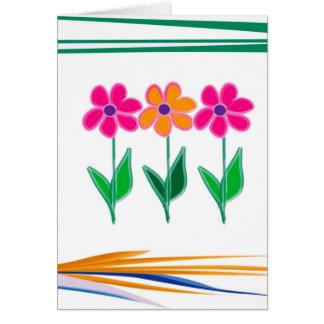 Diseño floral tarjeta de felicitación