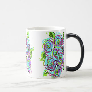 Diseño floral taza mágica