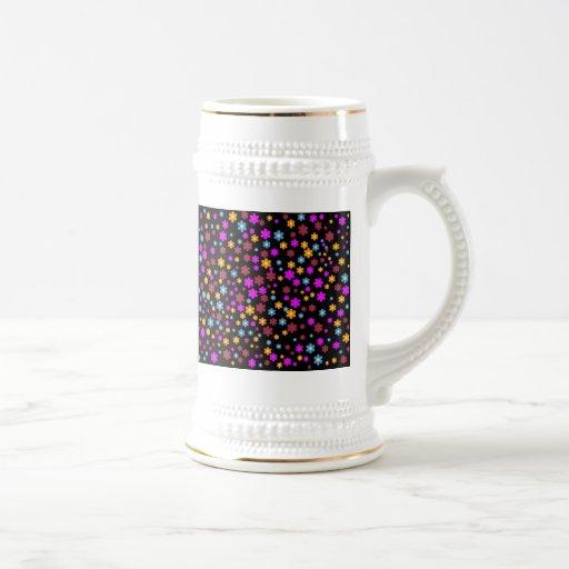 Diseño floral tazas de café