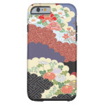 Diseño floral tradicional para el caso del iPhone Funda De iPhone 6 Tough