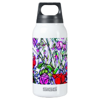 Diseño floral único botella isotérmica de agua
