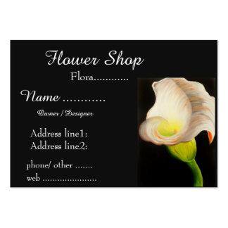 Diseño floral único de la cala tarjetas de visita grandes