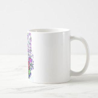 Diseño floral único taza clásica