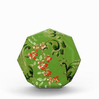 Diseño floral verde del vintage