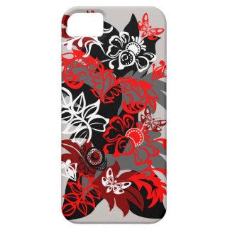 Diseño floral y de las mariposas del damasco iPhone 5 carcasa