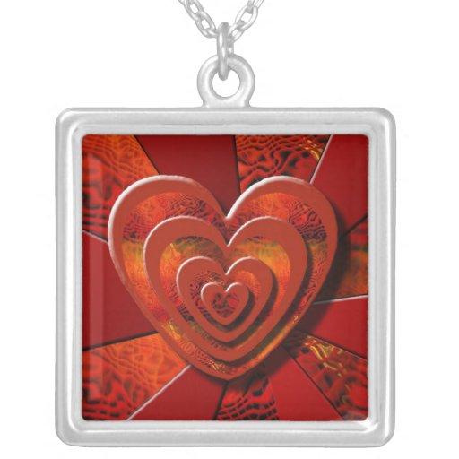 Diseño flotante del corazón de la pila joyeria personalizada