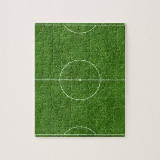 diseño footy de la hierba del fútbol del campo de rompecabezas