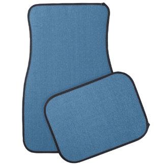 Diseño formal azul ligero del color de Mykonos Alfombrilla De Auto