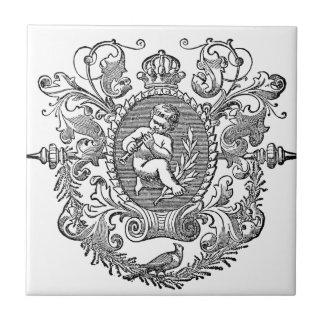 Diseño francés de la querube de la tipografía del azulejos cerámicos