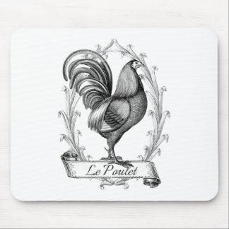 Diseño francés de Poulet del saco del grano del vi Alfombrilla De Ratones