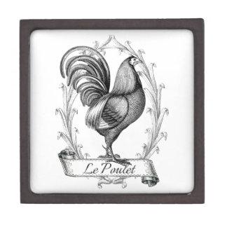 Diseño francés de Poulet del saco del grano del vi Caja De Recuerdo De Calidad