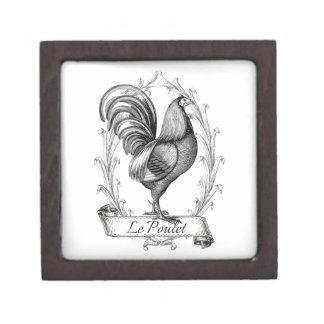 Diseño francés de Poulet del saco del grano del vi Caja De Regalo De Calidad