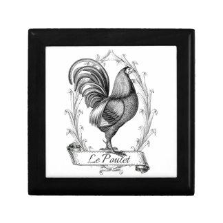 Diseño francés de Poulet del saco del grano del vi Joyero Cuadrado Pequeño