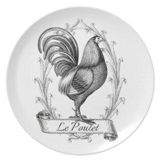 Diseño francés de Poulet del saco del grano del vi Plato