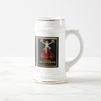Diseño francés del poster de la publicidad de la jarra de cerveza