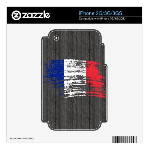 Diseño francés fresco de la bandera iPhone 2G calcomanías