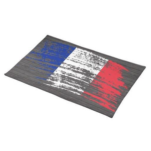 Diseño francés fresco de la bandera mantel