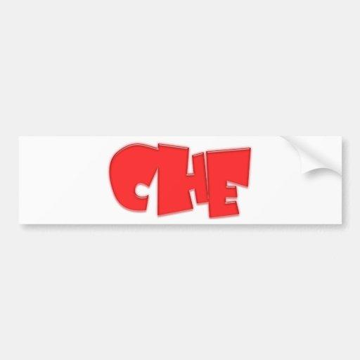 ¡Diseño fresco de Che! Etiqueta De Parachoque
