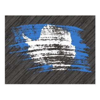 Diseño fresco de la bandera de Antartican Postales