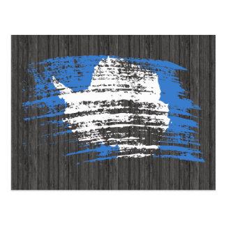 Diseño fresco de la bandera de Antartican Tarjetas Postales
