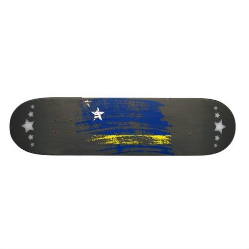 Diseño fresco de la bandera de Corazon Tabla De Skate