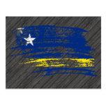 Diseño fresco de la bandera de Corazon Postales