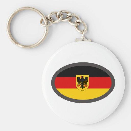 ¡Diseño fresco de la bandera de Deutschland! Llaveros