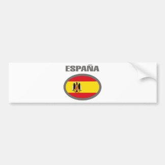 ¡Diseño fresco de la bandera de España! Etiqueta De Parachoque